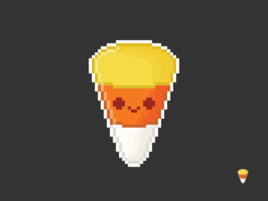 Cute Kawaii Candy Corn Pixel
