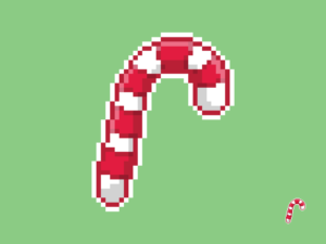 Candy Cane Pixel