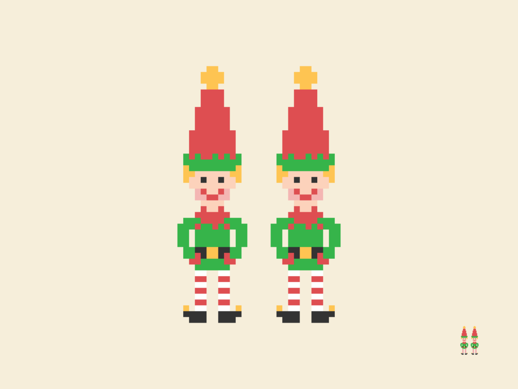 Christmas Elves Pixel