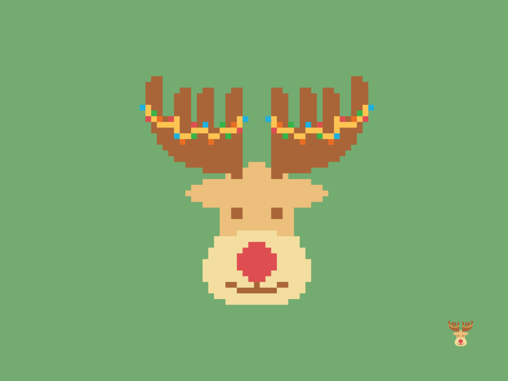 Christmas Reindeer Pixel