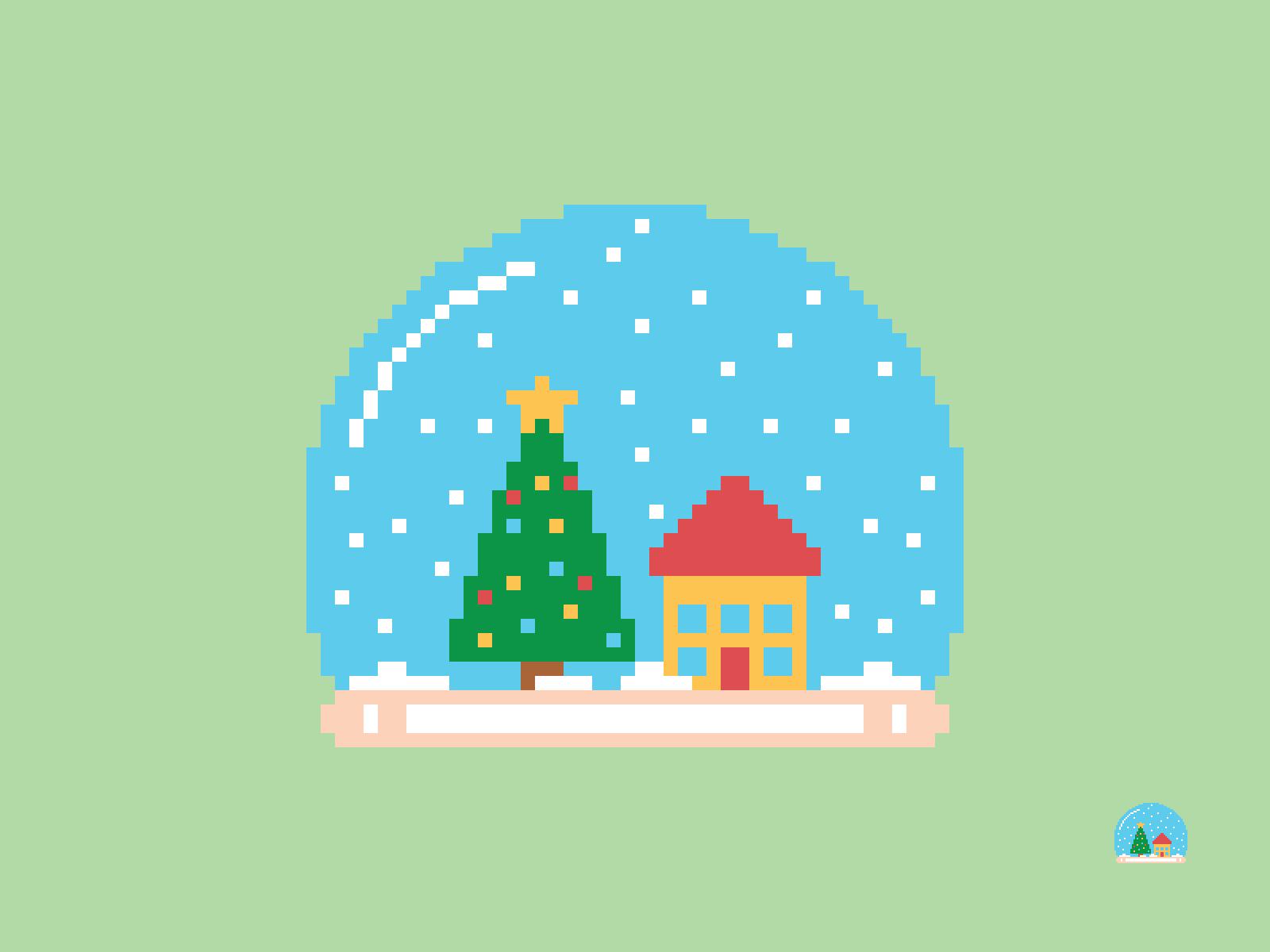 Christmas Snow Globe Pixel
