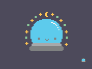 Cute Kawaii Crystal Ball Pixel