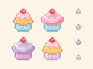 Cupcakes Pixel