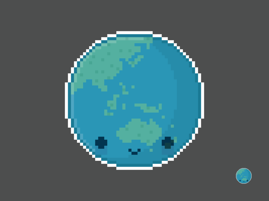 Cute Kawaii Earth Pixel