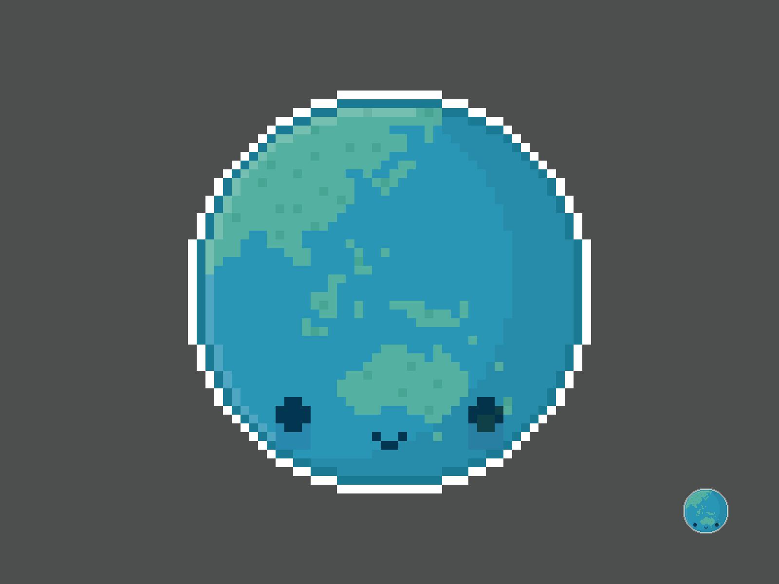 Cute Kawaii Earth Pixel