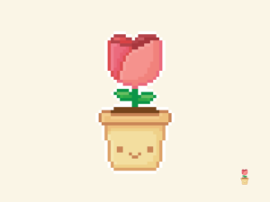 Cute Kawaii Flower Pixel