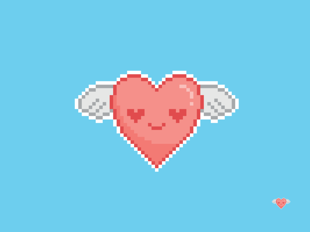 Flying Heart Pixel
