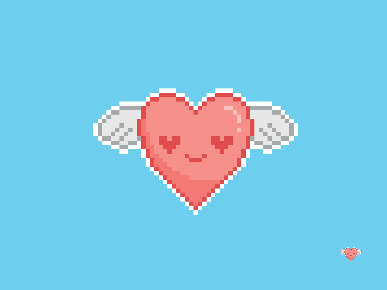 Flying Heart Pixel