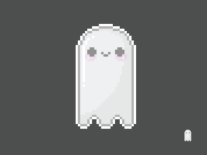 Cute Kawaii Ghost Pixel