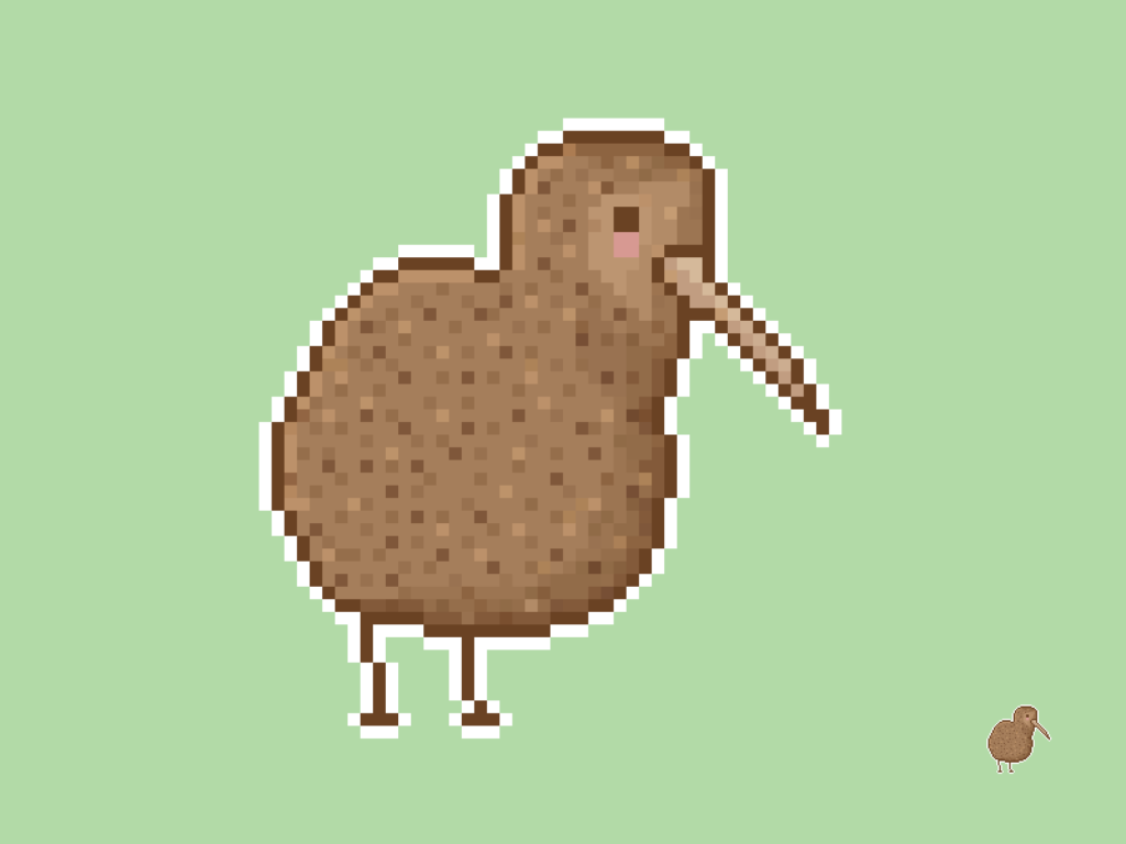 Kiwi Bird Pixel
