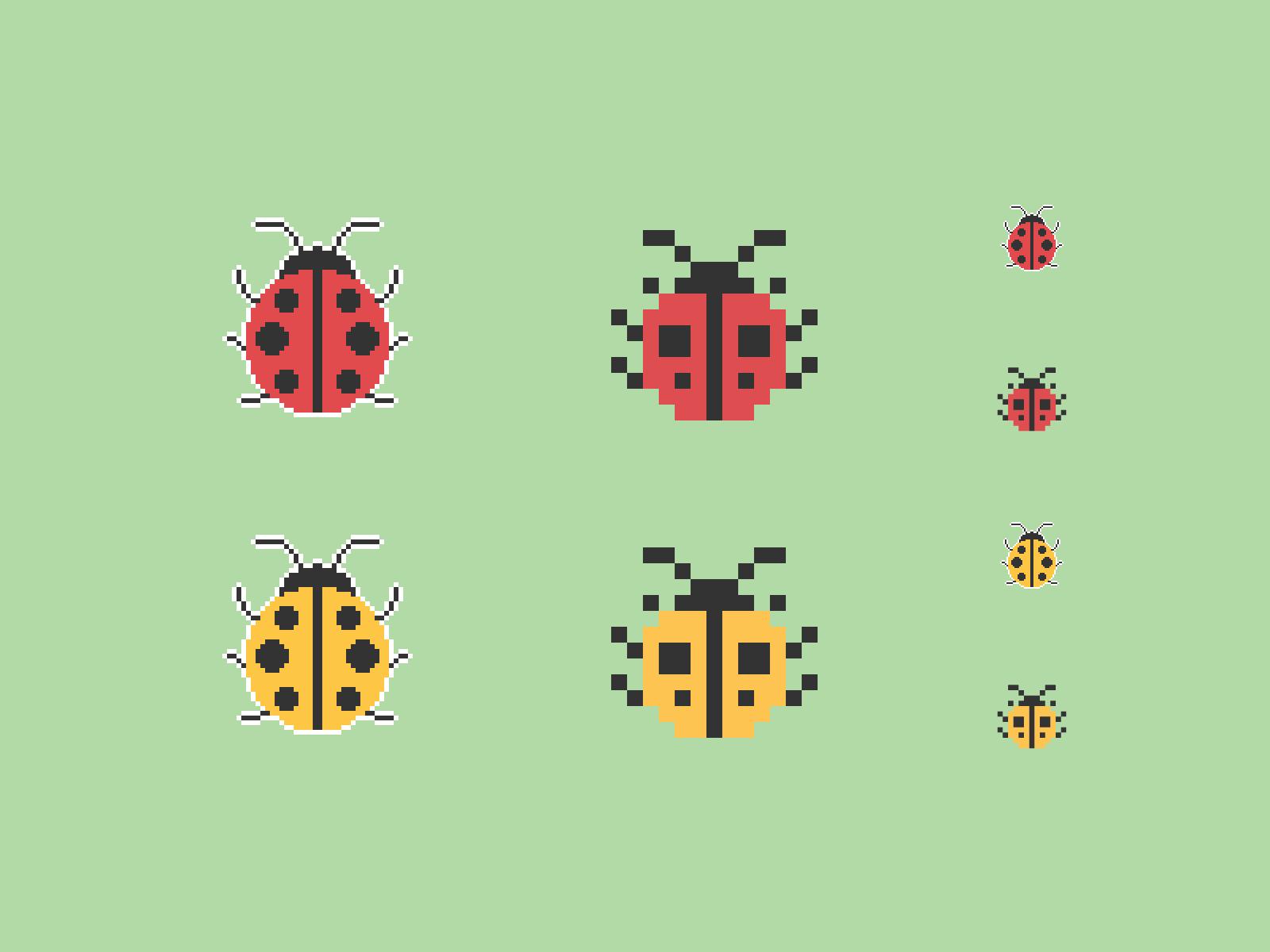 Ladybugs Pixel