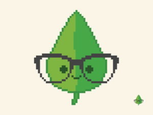 Cute Kawaii Leaf Pixel