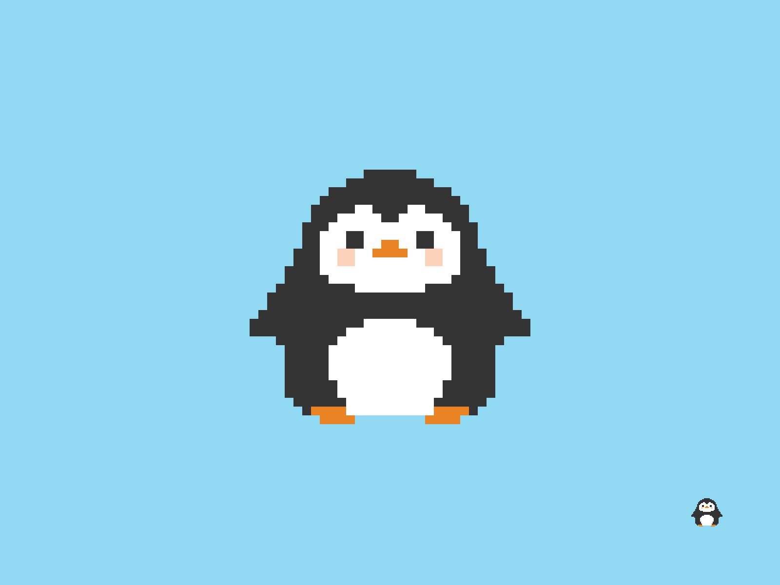 Little Penguin Pixel