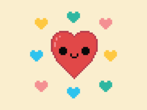 Love Hearts Pixel
