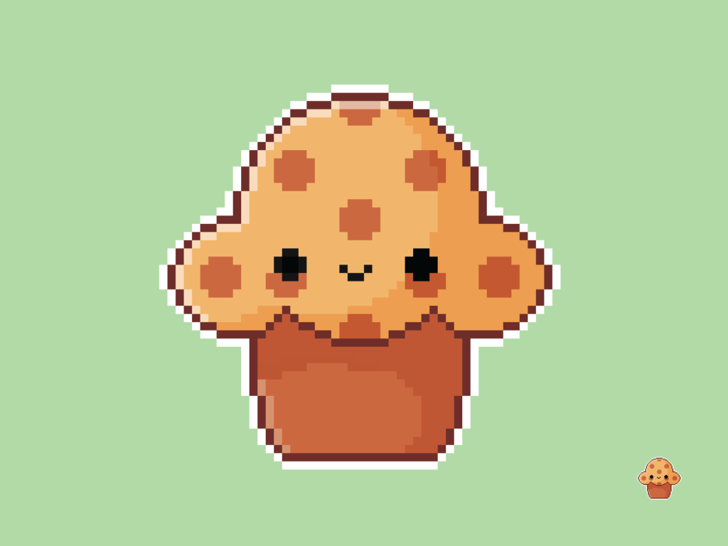 Cute Kawaii Muffin Pixel