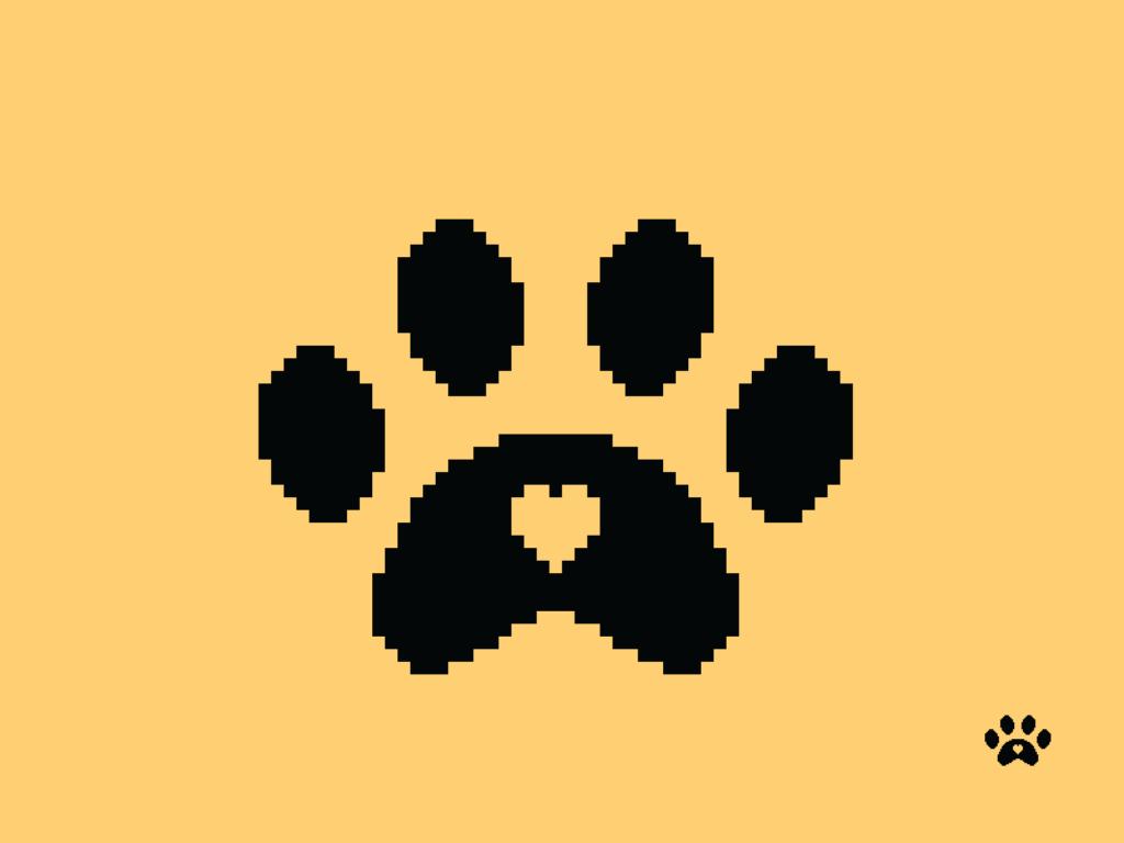 Paw Print Pixel