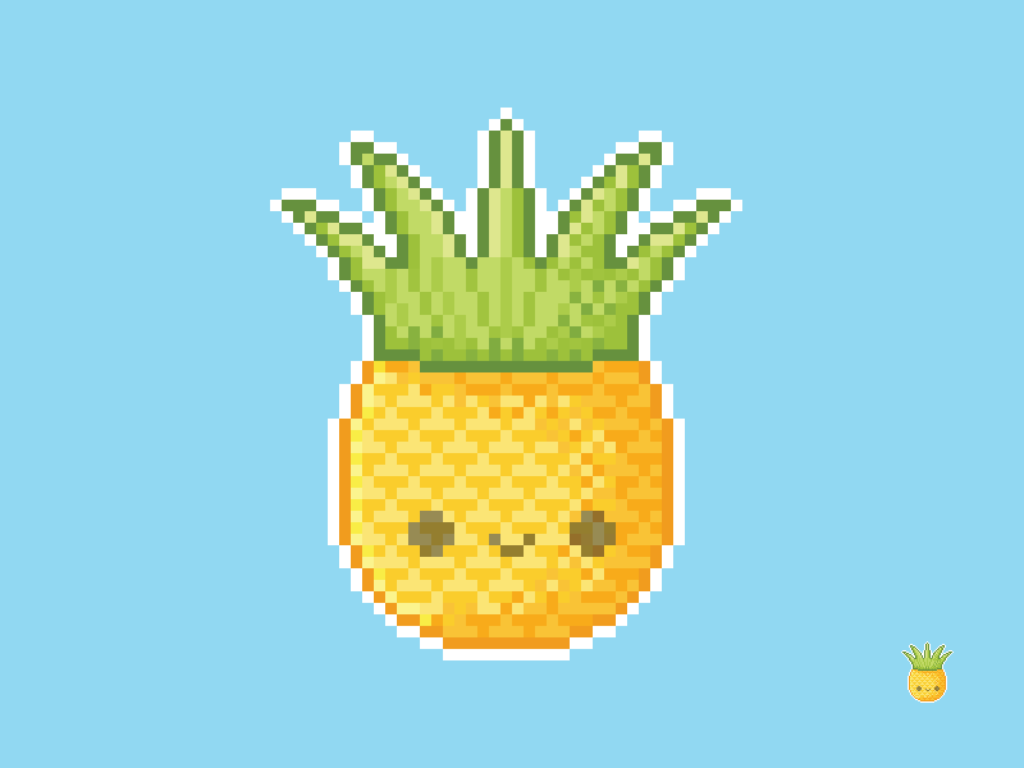 Cute Kawaii Pineapple Pixel