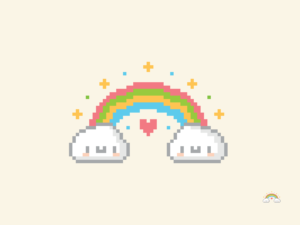 Cute Kawaii Rainbow Pixel