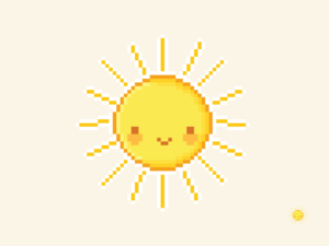Cute Kawaii Sun Pixel