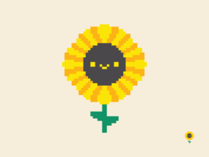 Cute Kawaii Sunflower Pixel