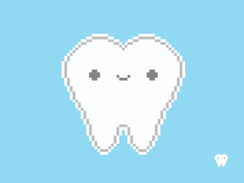 Cute Kawaii Tooth Pixel