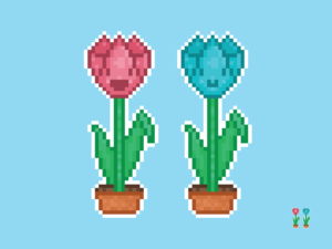 Cute Kawaii Tulips Pixel