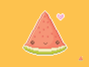 Cute Kawaii Watermelon Pixel
