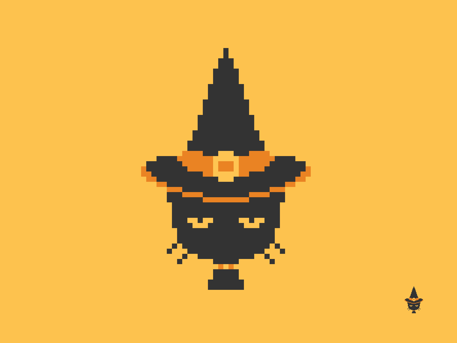 Witchy Cat Pixel