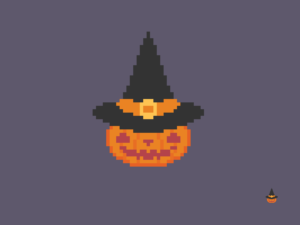 Witchy Pumpkin Pixel