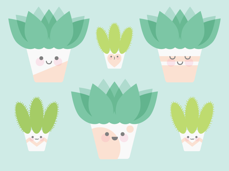 Cute Kawaii Plants