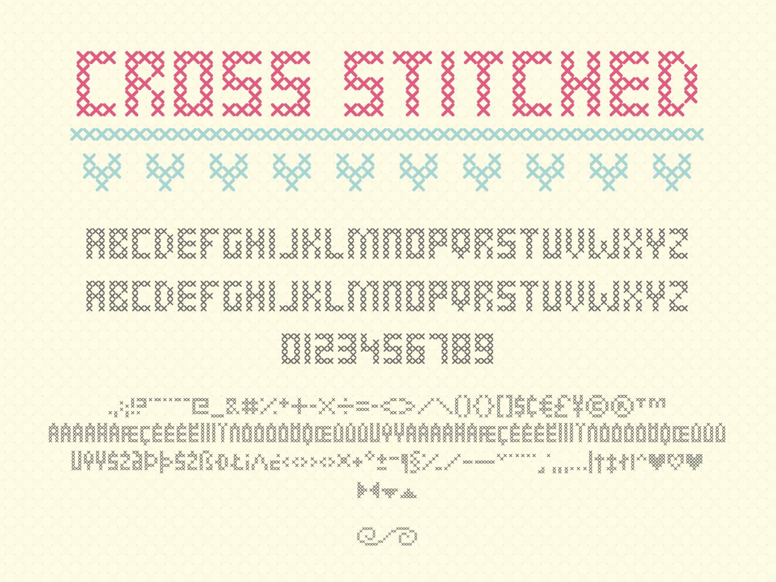 Cross Stitched Font