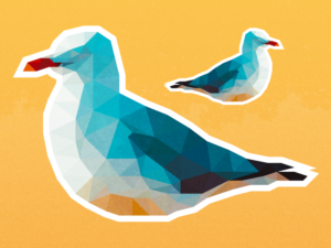 Low Poly Seagulls