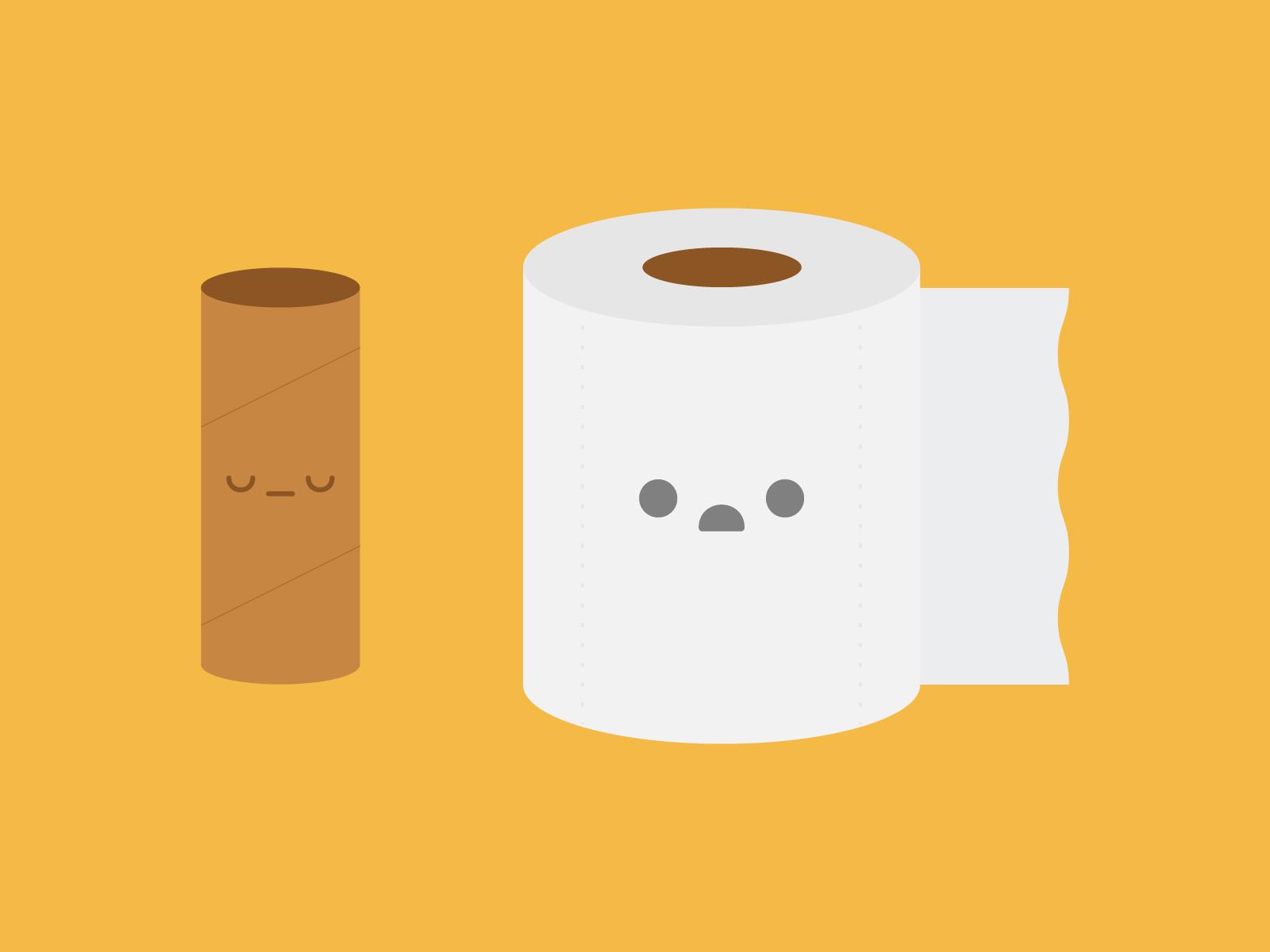 Cute Kawaii Toilet Paper Woes