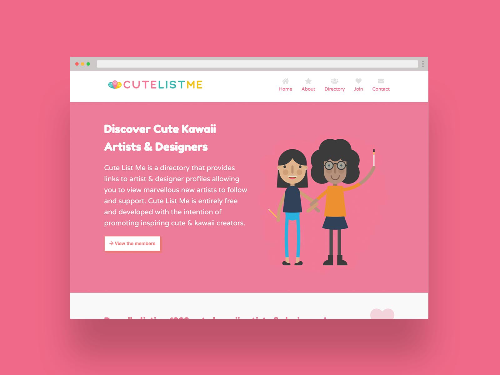 Cute List Me Logo & Website