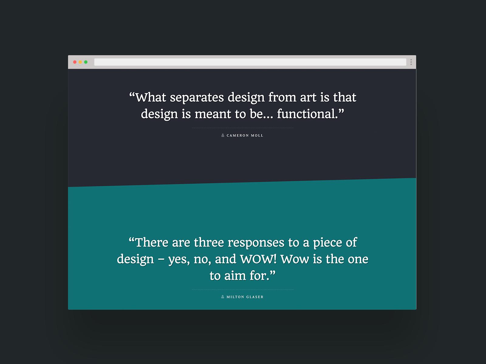 Design Quotes Website