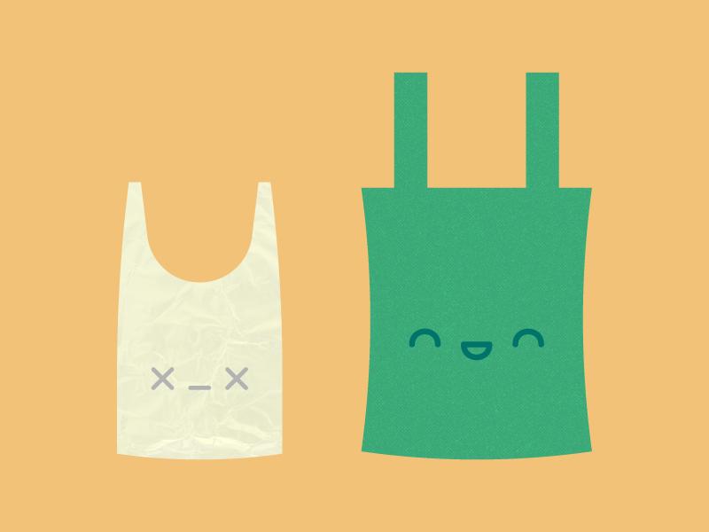 Cute Kawaii So long plastic bags!