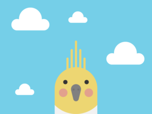 Cute Kawaii Cockatiel