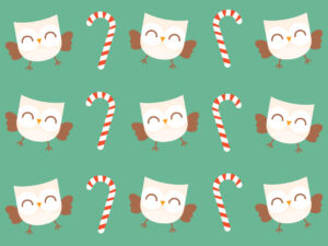 Cute Kawaii Candy Canes & Owls