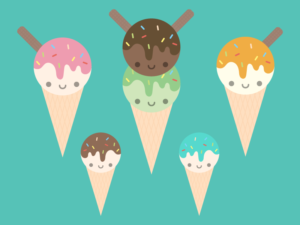 Cute Kawaii Ice Creams