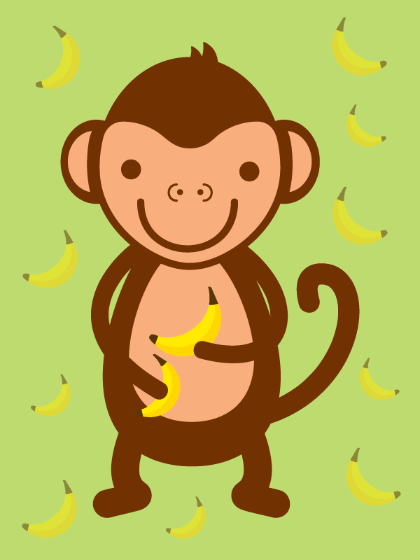 Cute Kawaii Monkey
