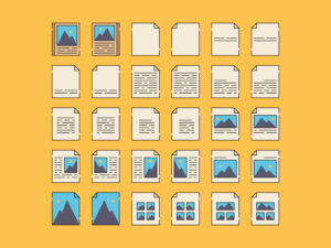 Book Page Layout Icons