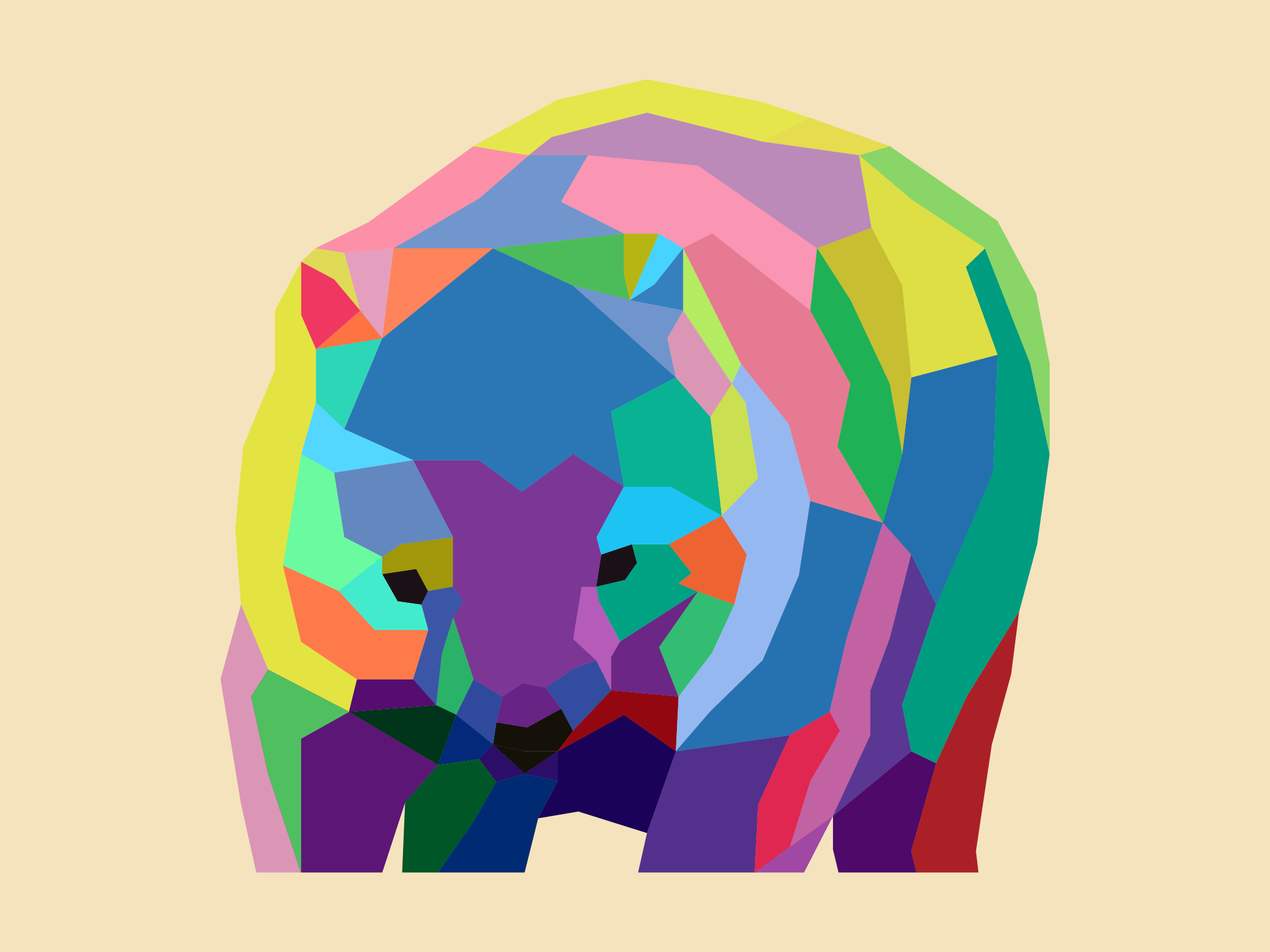 Low Poly Wombat