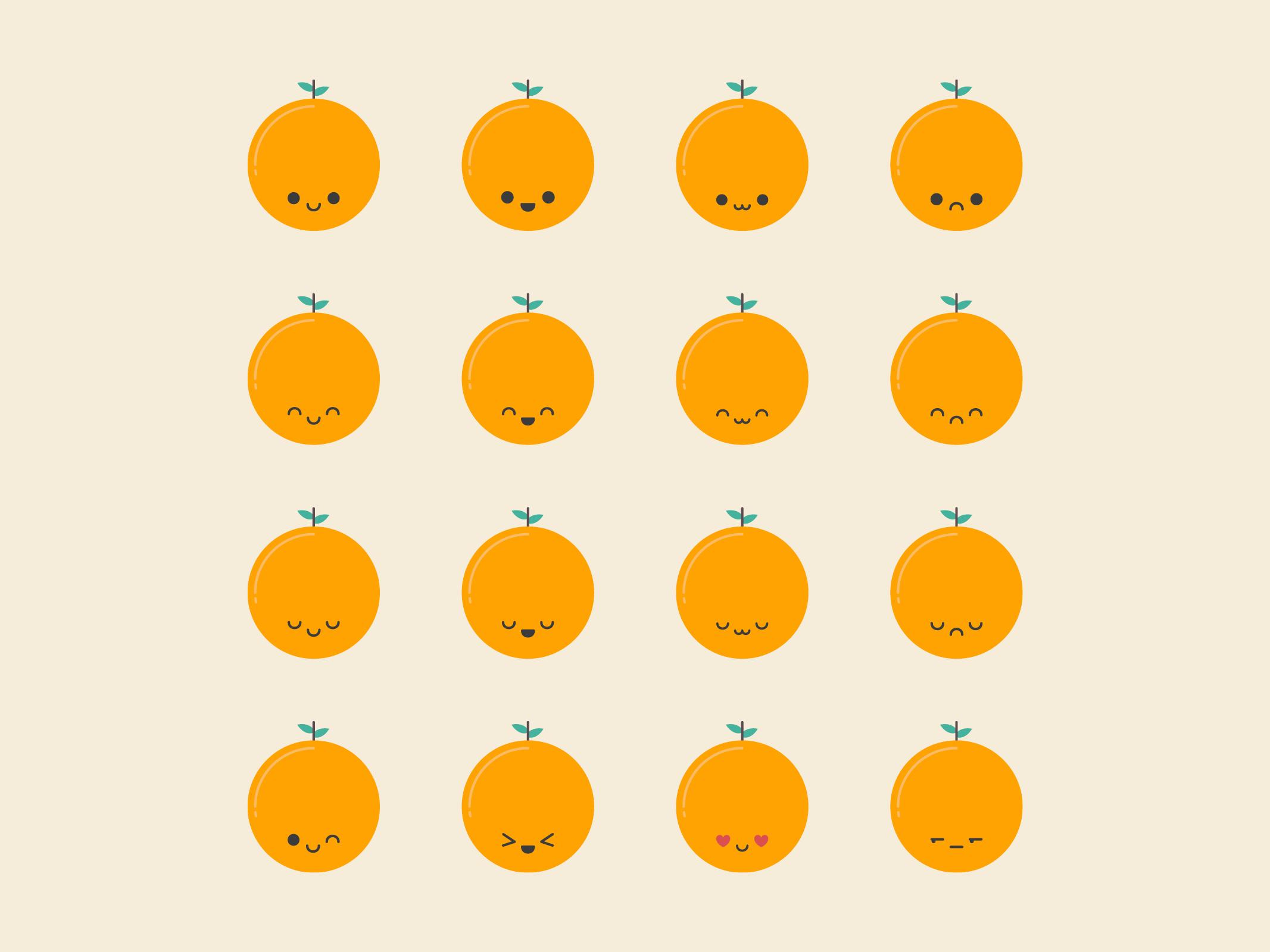 Orange Emoji