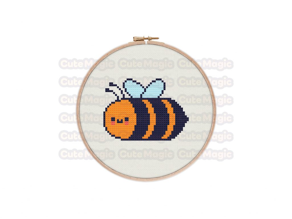 Bee Cross Stitch Pattern