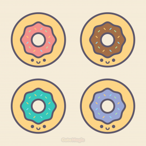Cute Kawaii Donuts