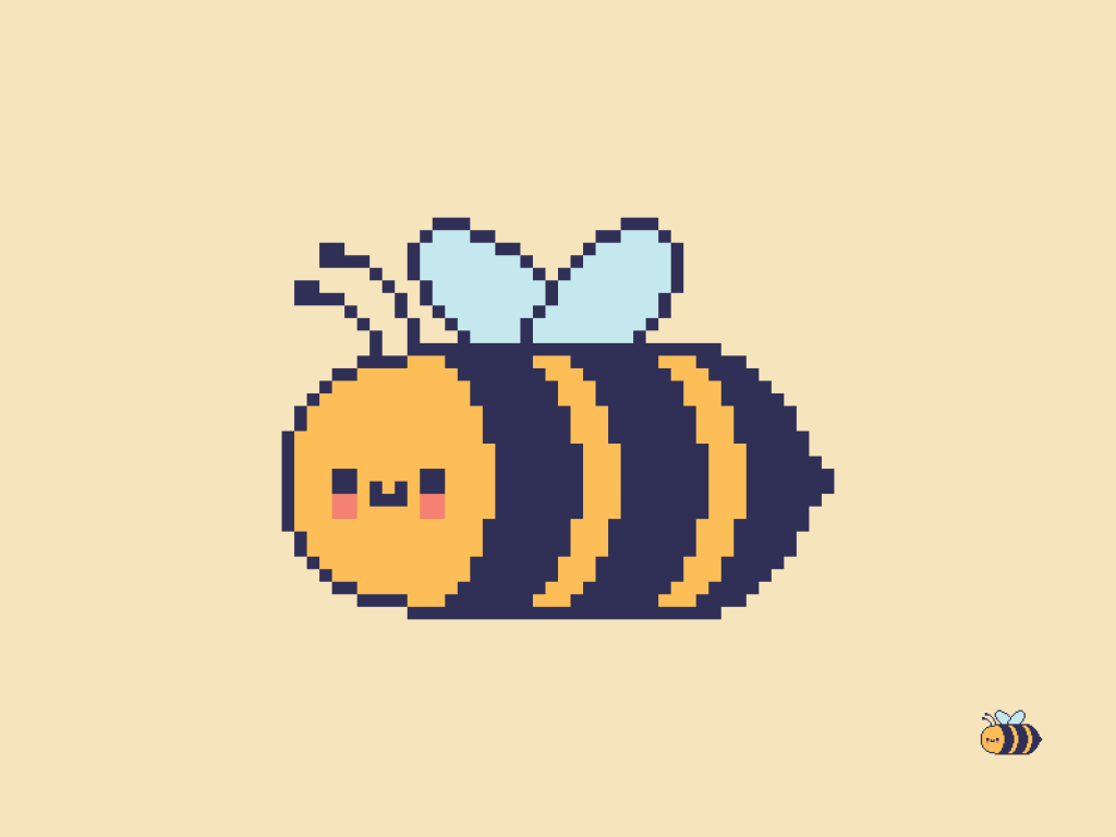Cute Kawaii Bee Pixel