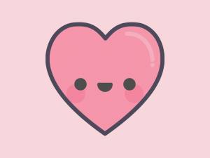 Cute Kawaii Love Heart