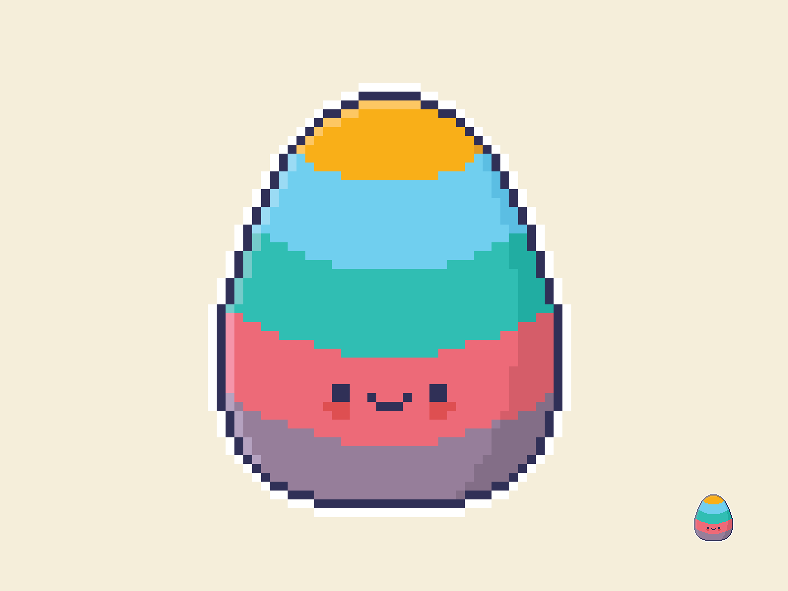 Cute Kawaii Easter Egg Pixel Art