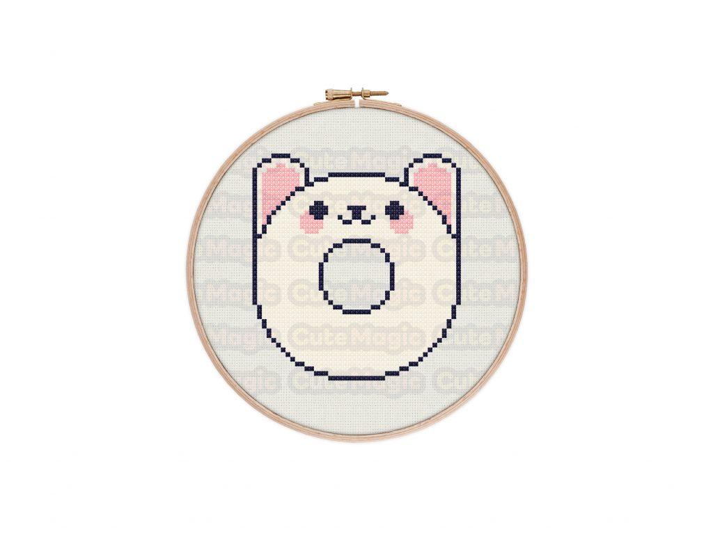 Cute Kawaii Rabbit Bunny Donut Cross Stitch Pattern