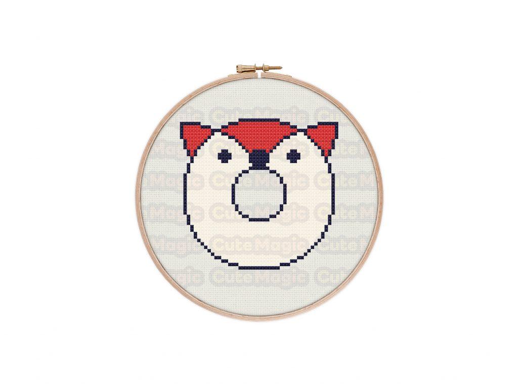 Cute Kawaii Fox Donut Cross Stitch Pattern